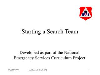 Starting a Search Team