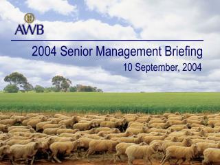 2004 Senior Management Briefing