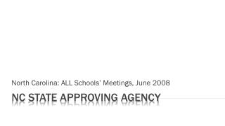 NC State Approving Agency