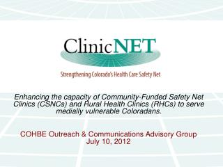 ClinicNET Affiliated Clinics…