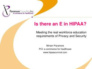 Is there an E in HIPAA?