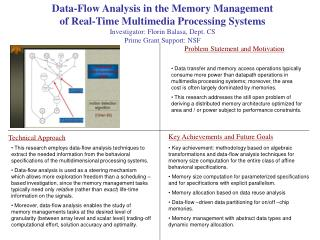 Data-Flow Analysis in the Memory Management of Real-Time Multimedia Processing Systems