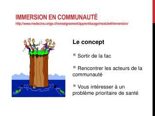 Le concept  Sortir de la fac  Rencontrer les acteurs de la communauté