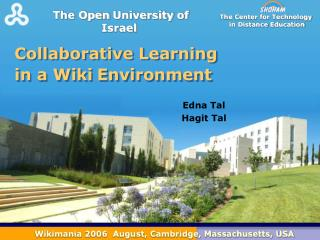 Collaborative Learning  in a Wiki Environment