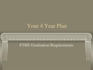 Your 4 Year Plan
