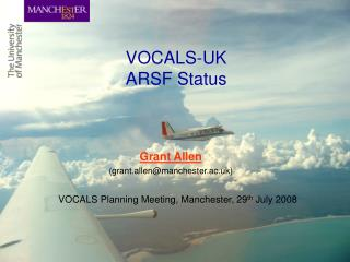 VOCALS-UK  ARSF Status