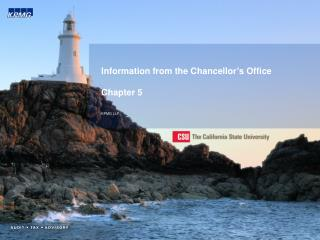 Information from the Chancellor's Office Chapter 5 KPMG LLP