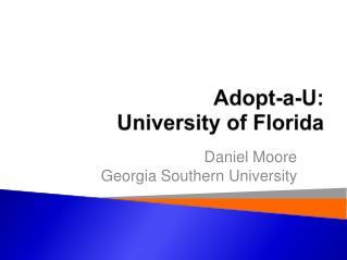 Adopt-a-U: University of Florida