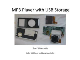 MP3 Player with USB Storage