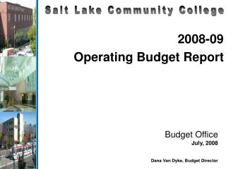 2008-09 Operating Budget Report