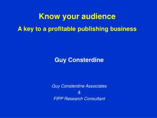Know your audience  A key to a profitable publishing business