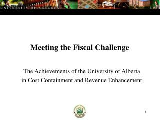 Meeting the Fiscal Challenge