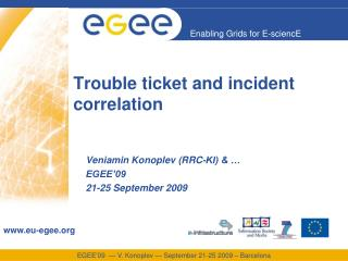 Trouble ticket and incident correlation
