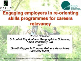 Engaging employers in re-orienting skills programmes for careers relevancy