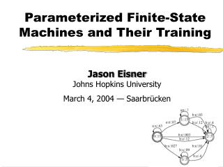 Parameterized Finite-State Machines and Their Training