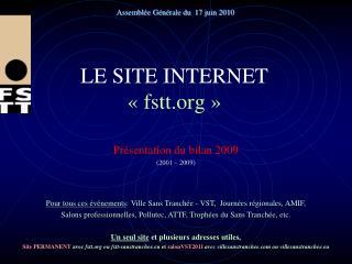 LE SITE INTERNET «fstt»