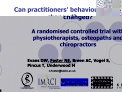 Can practitioners  behaviour be changed   A randomised controlled trial with physiotherapists, osteopaths and chiropract