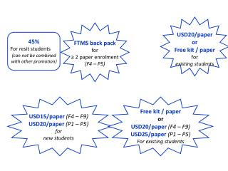 FTMS back pack for  ≥ 2 paper enrolment (F4 – P5)