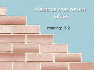 Methods that return values