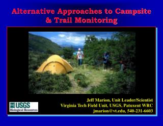 Alternative Approaches to Campsite & Trail Monitoring