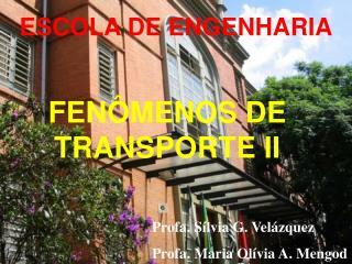 FENÔMENOS DE TRANSPORTE II