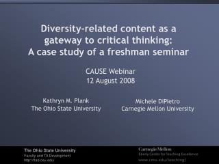 Diversity-related content as a  gateway to critical thinking:  A case study of a freshman seminar