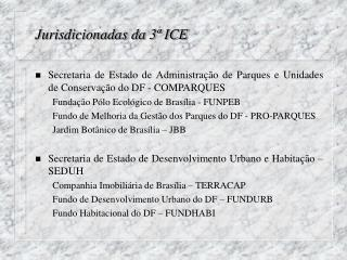 Jurisdicionadas da 3ª ICE