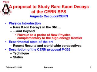 Physics Introduction Rare Kaon Decays in the SM…. …and Beyond