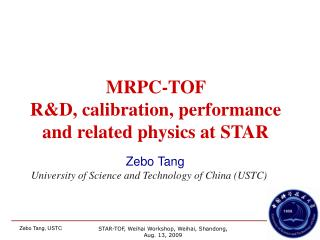 Zebo Tang University of Science and Technology of China (USTC)