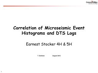 Correlation of Microseismic Event Histograms and DTS Logs