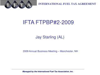 IFTA FTPBP#2-2009