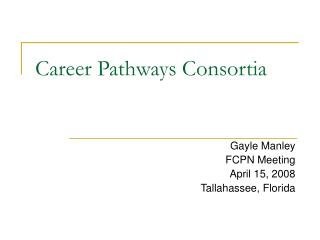 Career Pathways Consortia
