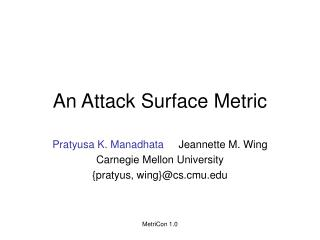 An Attack Surface Metric