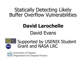 Statically Detecting Likely Buffer Overflow Vulnerabilities