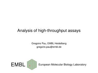 Analysis of high-throughput assays