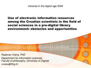 Radovan Vrana , PhD