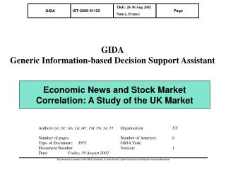 Economic News and Stock Market Correlation: A Study of the UK Market