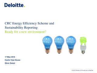 CRC Energy Efficiency Scheme and Sustainability Reporting  Ready for a new environment?