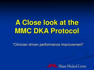 A Close look at the MMC DKA Protocol