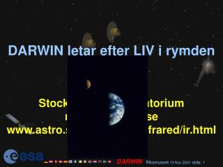 DARWIN letar efter LIV i rymden