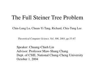 The Full Steiner Tree Problem