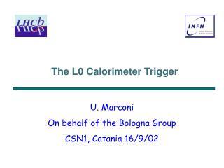 The L0 Calorimeter Trigger