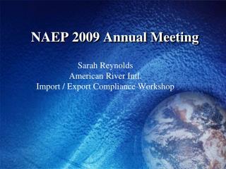 NAEP 2009 Annual Meeting