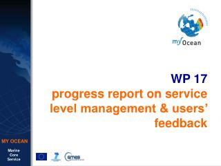 WP 17 progress report on service level management & users� feedback