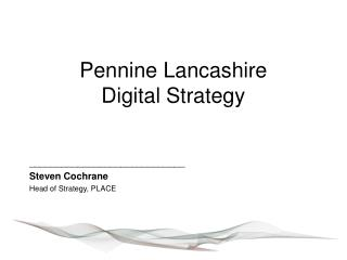 Pennine Lancashire Digital Strategy