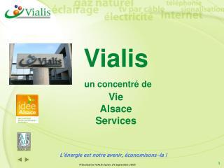 Vialis un concentré de  Vie Alsace Services
