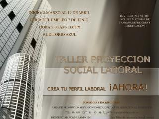 TALLER PROYECCION SOCIAL LABORAL