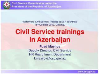 Civil Service trainings  in  Azerbaijan