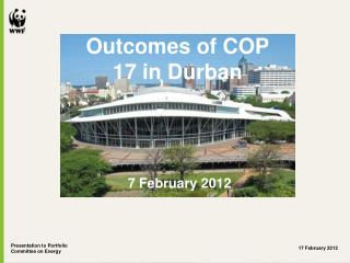 Outcomes of COP 17 in Durban