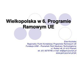 Wielkopolska w 6. Programie Ramowym UE